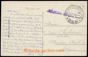 79999 - 1919 PODKARPATSKÁ RUS  pohlednice poslaná PP č.46/ 19.V.1