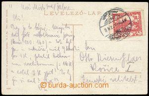 80004 - 1919 SÁTORALJAUJHELY, postcard sent from  Hungarian border