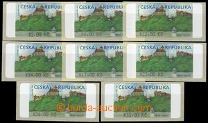 80038 - 2000 Pof.AT1, Veveří (castle), complete set 8 pcs of with