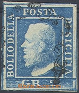 80043 - 1859 Mi.3a, 2Gr Ferdinand II., light blue, wide margins, c.v
