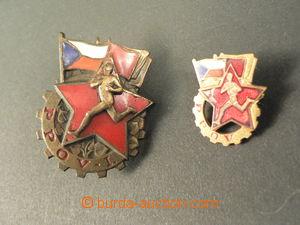 80091 - 1955 ČSR II.  Bronzový odznak PPOV I., přiložena klopov�