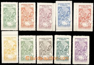 80102 - 1913 MUCHA Alfons (1860–1939), assembly of 10 pieces of ad