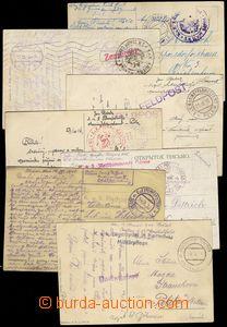 80112 - 1914-18 comp. 7 pcs of entires, 2x ship Scharfschütze, 2x s