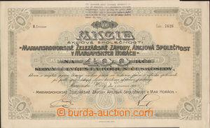 80113 - 1921 ČSR I.  akcie Mariánskohorské železářské závody