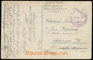 80118 - 1914 S.M.S. ERZHERZOG FRANZ FERDINAND  violet round postmark