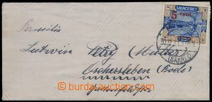 80143 - 1921 letter small format, franked with. overprint stamp. Mi.