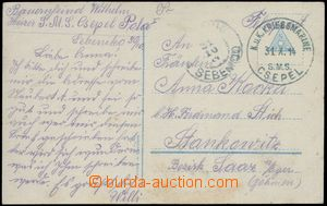 80157 - 1914 S.M.S. CSEPEL, black-green postmark with date 31.X.14 +