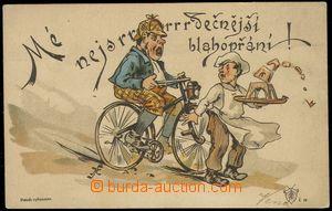 80160 - 1893 Josef Šváb č. 37, barevná litografie, cyklistický