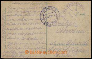 80161 - 1919 pohlednice od příslušníka 6. roty, neúplný otisk
