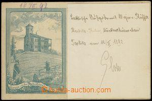 80169 - 1892 KOMÁŘÍ VÍŽKA (Mückenthürmchen) - forerunner Ppc;