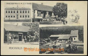 80171 - 1925 RYCHVALD - 4-view, railway-station, school, cement fact