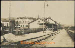 80172 - 1925 ČADCA - railway-station, photo postcard, Made in Franc