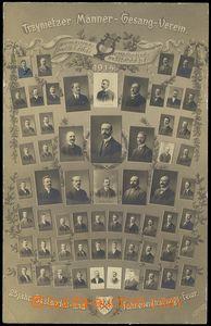 80176 - 1914 TŘINEC (Trzynietz) - fotopohlednice, tablo pěveckého