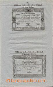 80186 - 1813 PROVIZORIA  vzor pro bankocetle 10G a 20G na namodralém