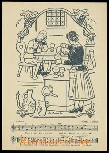 80197 - 1940 LADA Josef (1887–1957), cyklus Lidové písně, Druž