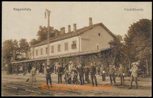 80211 - 1925 MICHALOVCE (Nagymihály) - nádraží, drezína, lidé;