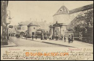 80212 - 1900 KRNOV (Jägerndorf) - street, people; long address, Us,