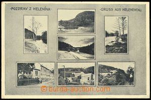 80238 - 1937 HELENÍN - 7-view,  B/W, village square, factory etc..