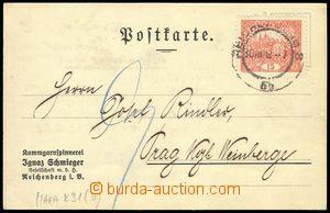 80285 - 1919 Maxa K31, firemní lístek s přítiskem Ignaz Schmiege