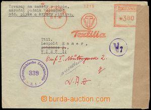 80291 - 1948 letter with meter stmp Textilia Jihlava, sent to Vienna