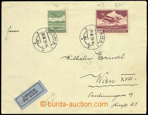 80292 - 1939 airmail letter to Vienna, with Pof.L7, L10, CDS Praha1/