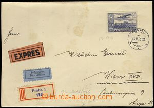 80294 - 1939 Reg, express and airmail letter to Vienna, with Pof.L14