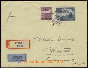 80303 - 1939 Reg and airmail letter to Vienna, with Pof.L11, L15, CD