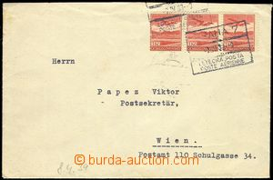 80307 - 1939 airmail letter to Vienna, with Pof.L8 3x, CDS frame Pra