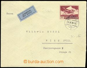 80311 - 1939 airmail letter to Vienna, with Pof.L10, CDS Praha1/14.4