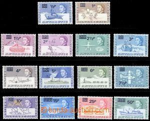 80343 - 1971 SG.24-37, Výzkum Antarktidy, přetisková série 14ks znám