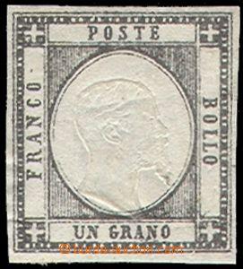80363 - 1861 Mi.3, Král Viktor Emanuel II. 1Gr, 2x značka, kat. Sa