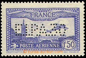 80369 - 1930 FRANCE  Mi.255, Air, perfin E.I.P.A.30 - air exhibition