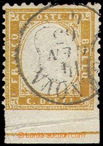 80371 - 1862 Mi.9, Král Viktor Emanuel II. 10C, známka s dolním o