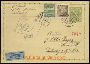 80373 - 1939 forerunner PC Czechoslovakia CDV65 uprated with stamp P