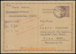 80375 - 1941 CDV10/I.část to Wien (Vienna), CDS Sadská 25.9.41, L