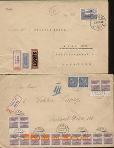 80383 - 1937-1939 CZECHOSLOVAKIA 1918-39  comp. 2 pcs of air-mail le