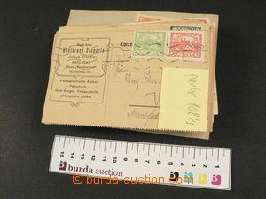 80385 - 1919-20 ČSR I.  sestava 108ks celistvostí frankovaných zn