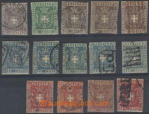 80387 - 1860 Mi.17-21, comp. 14 pcs of stamps issue Coat of arms, va