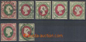 80398 - 1875 Mi.13, 14a+b+c+d, 15, 16a, Královna Viktoria, zkoušen