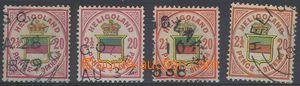 80399 - 1876 Mi.18a+c+g+h, Znak, zkoušeno, kat. 388€