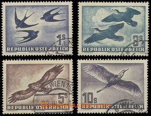 80400 - 1953 Mi.984-987, Birds, c.v.. 260€