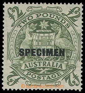 80402 - 1948 Mi.190, Znak 2£ zelená, přetisk SPECIMEN