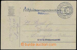80419 - 1918 PC FP to Litomyšl, CDS Etappenpostamt DURAZZO (Durz)/