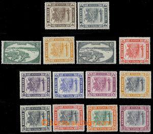 80433 - 1947 SG.79-92, Krajinný motiv, série 14 ks, lehčí stopy po n