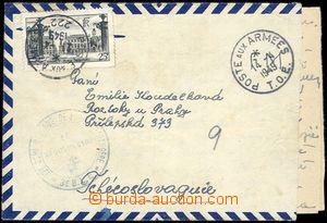 80436 - 1949 FRANCIE  dopis od českého příslušníka francouzsk�