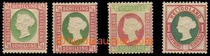 80462 - 1873-75 Mi.8-9, 11, Královna Viktoria, sestava 4ks známek,