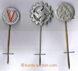 80469 - 1935-45 ODZNAKY  sestava 3ks Al propagačních odznaků, 1x