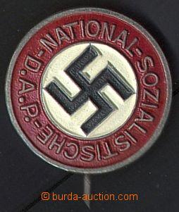 80471 - 1935 ODZNAKY  3-barevný kruhový odznak NSDAP, svastika, n�
