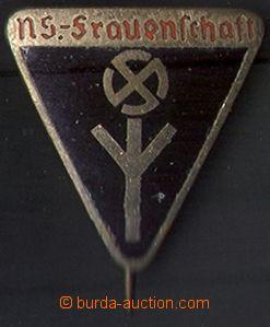 80474 - 1935 ODZNAKY  3-barevný trojúhelníkový odznak NS-Frauens