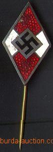 80476 - 1935 ODZNAKY  4-barevný kosočtvercový odznak Hitlerjugend
